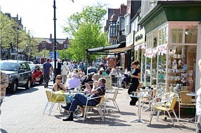 Pavement cafes in Lytham