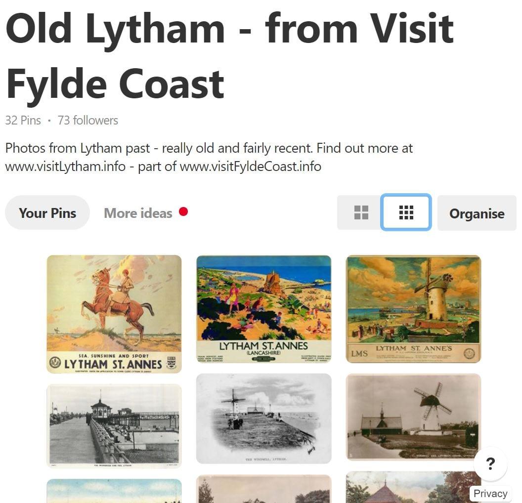 Visit Fylde Coast Pinterest board of photos of Lytham through History