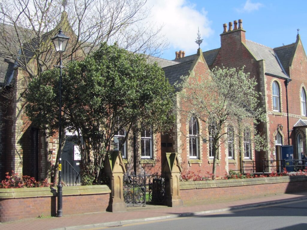 Lytham Institute, formerly Lytham Library, side view from Bannister Street