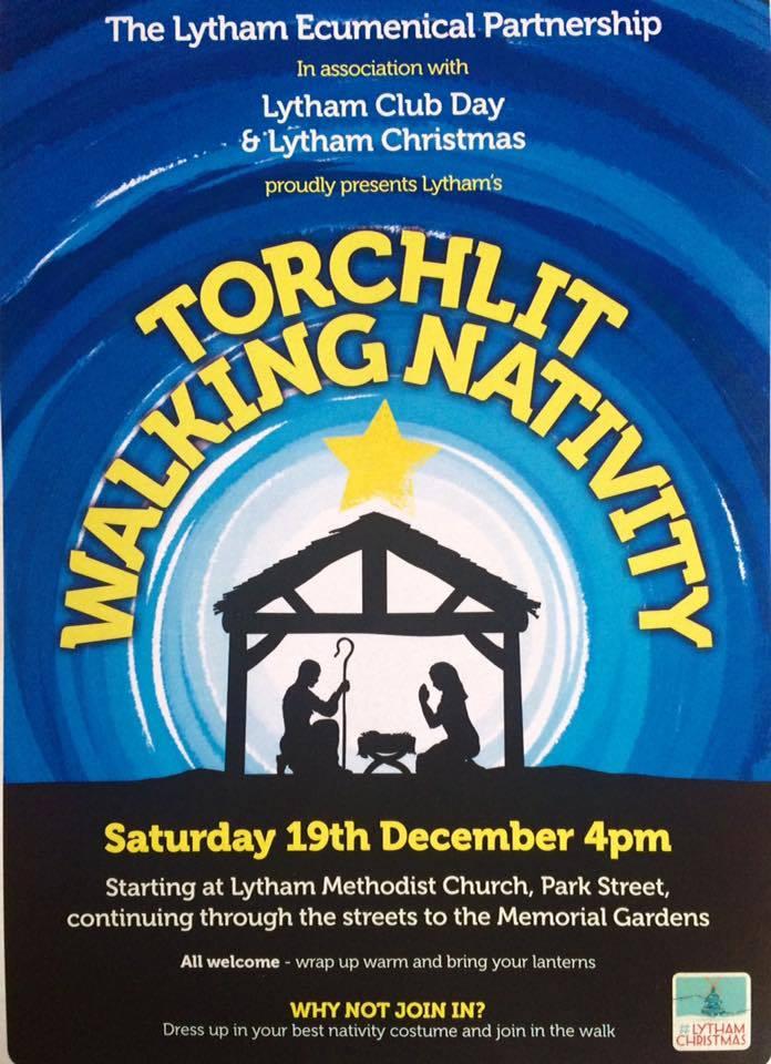 Lytham Torchlit walking nativity