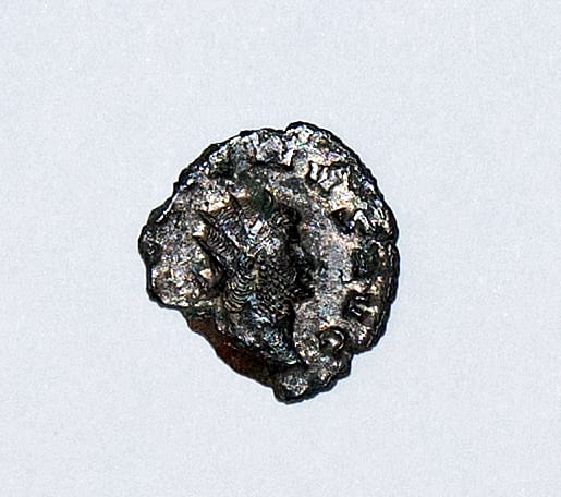 One of the Roman coins found at Lytham Hall