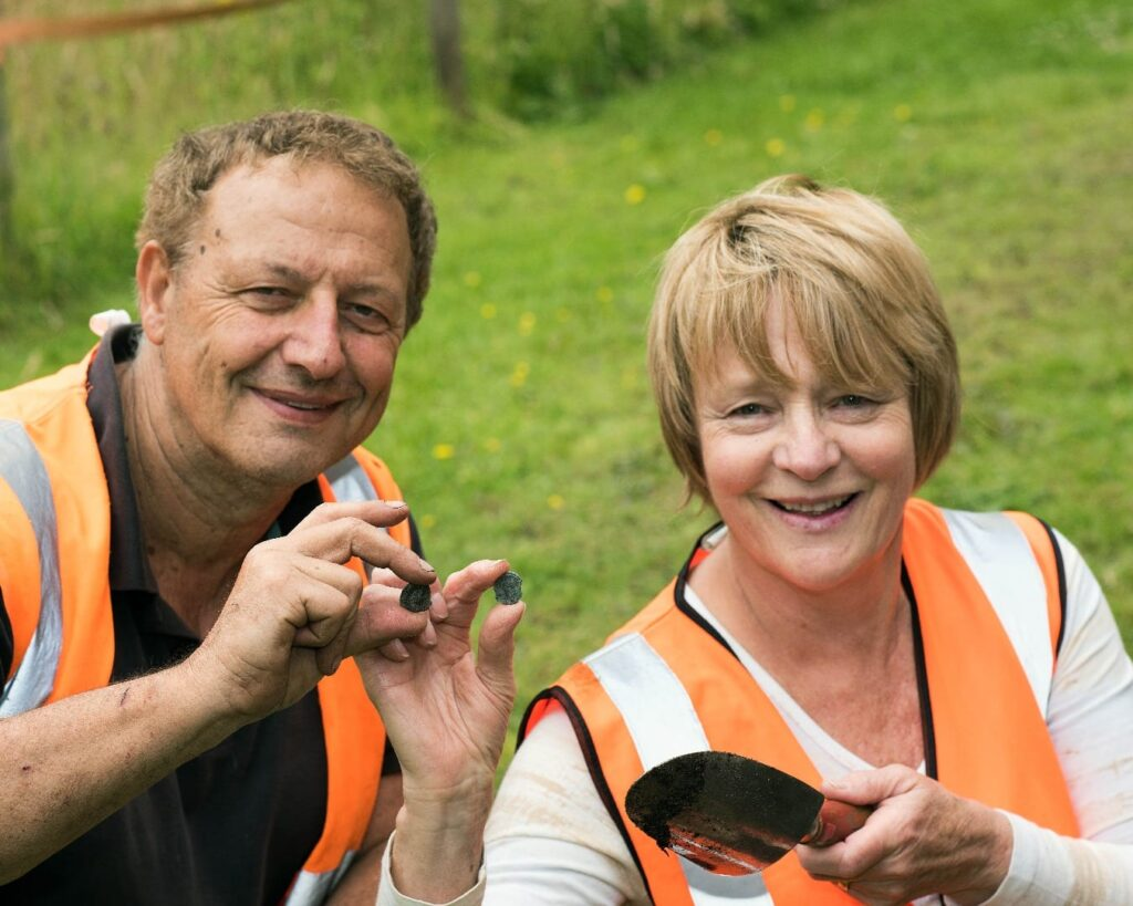 Julia and Peter who found two Roman coins at Lytham Hall