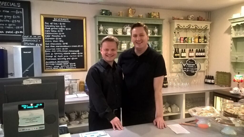 Paul Anthony and Peter Lomax, appointed to the staff at Lytham Hall to manage the tea room