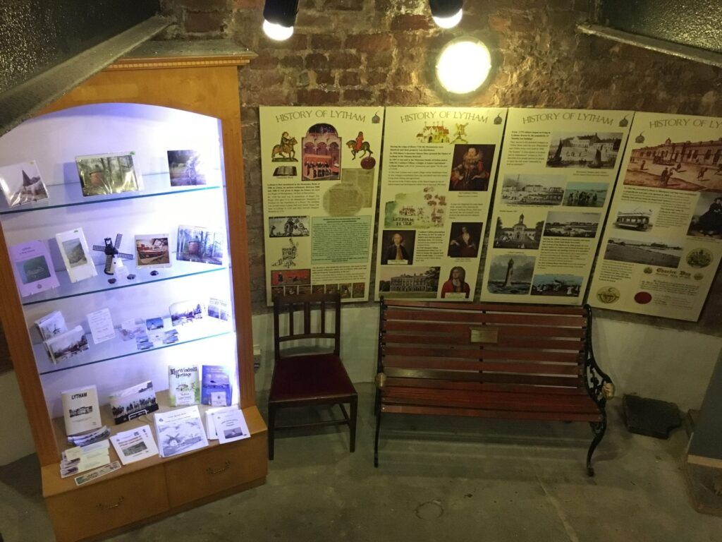 Displays inside Lytham windmill