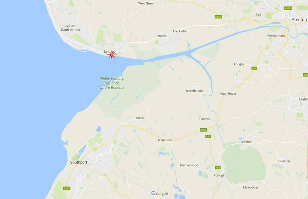 Google map of Lytham and Ribble estuary