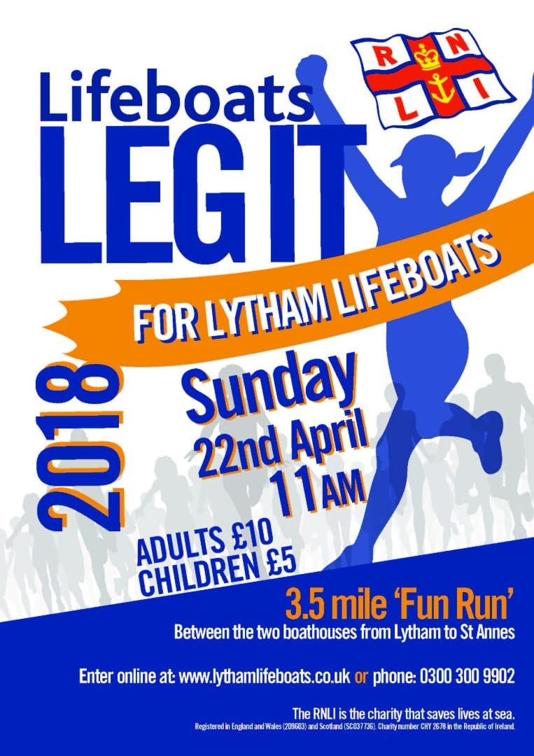 Leg it for Lytham Lifeboats 2018