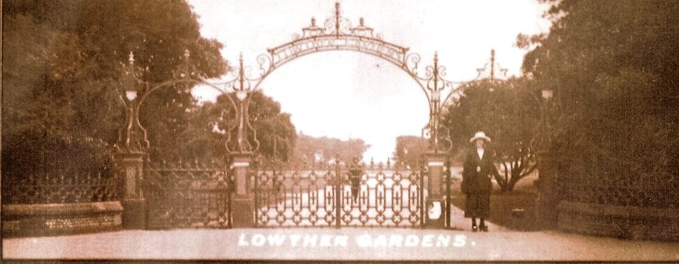 1936 photo of the new entrance at Lowther Gardens