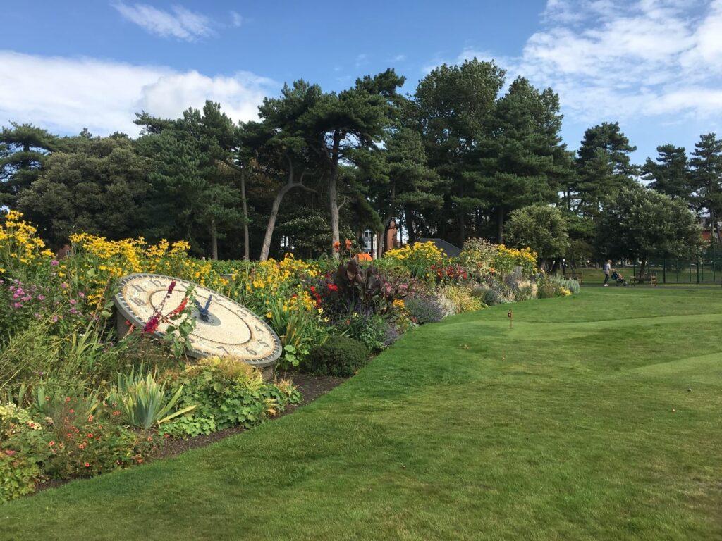 Herbacious border at Lowther Gardens