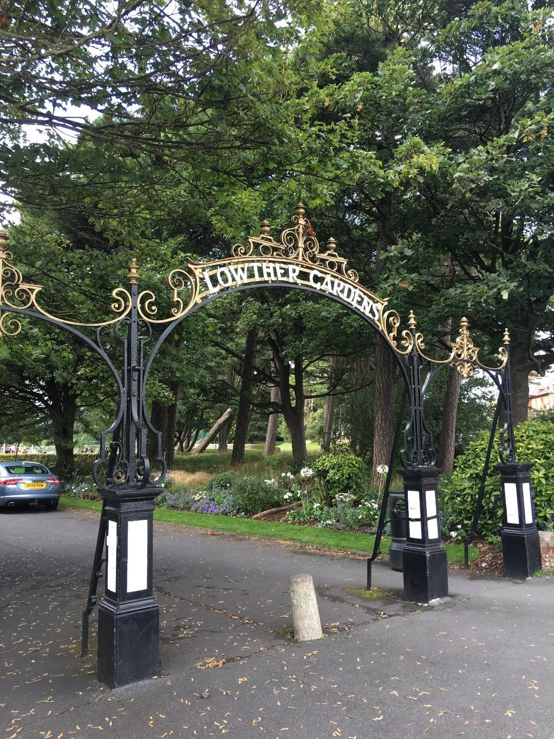Gates to Lowther Gardens in Lytham