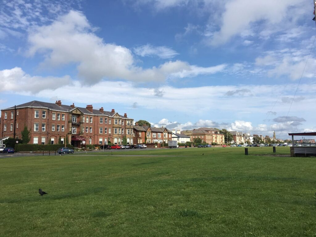 Lytham Green, lined with attractive properties