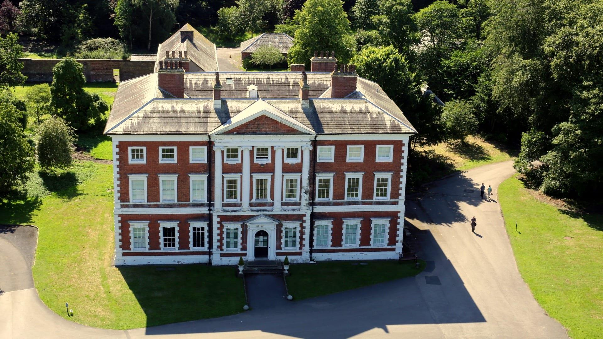 Aerial view of Lytham Hall