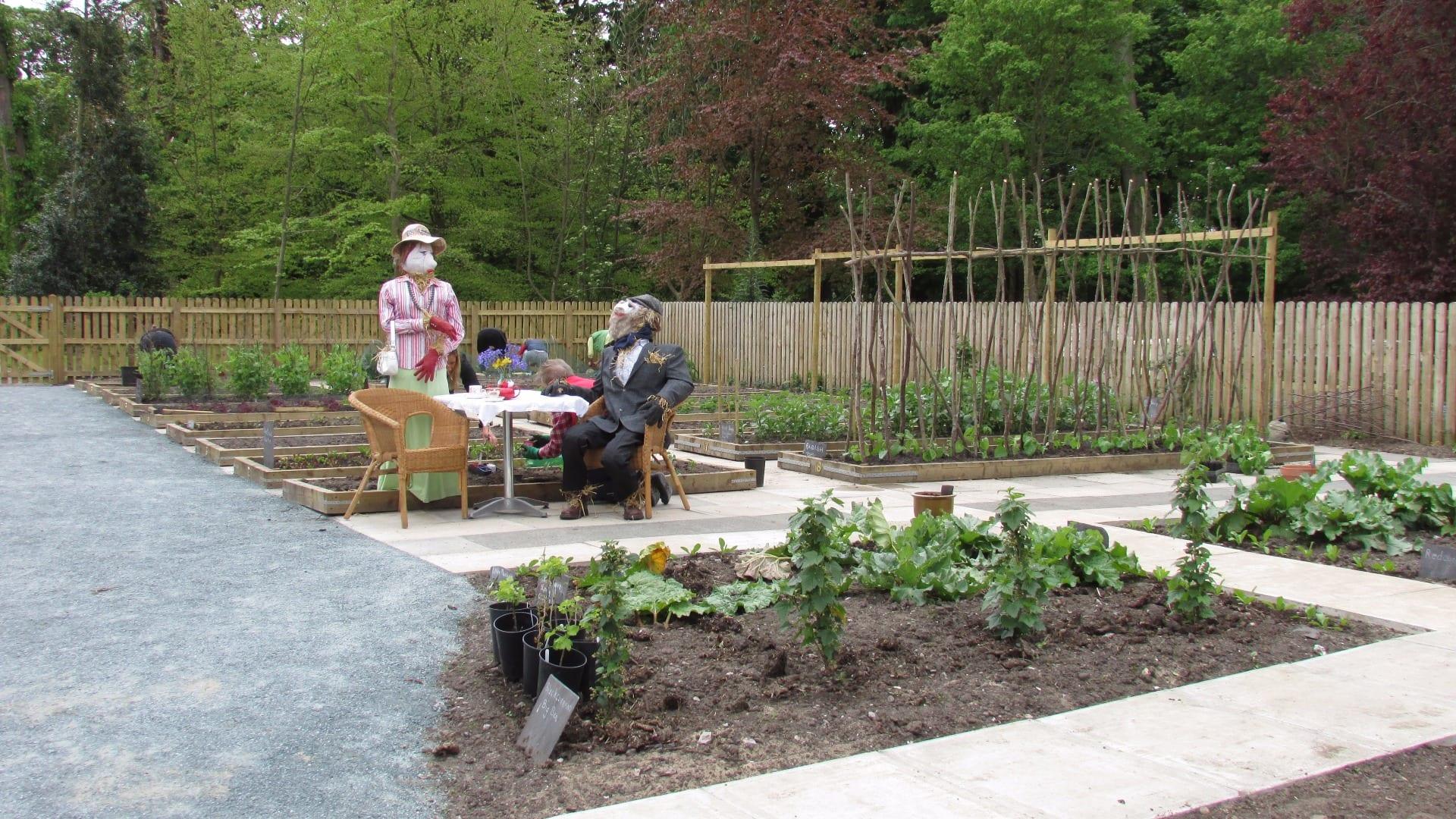 Kitchen garden at Lytham Hall