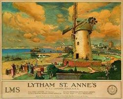 Lytham St Annes Railway poster