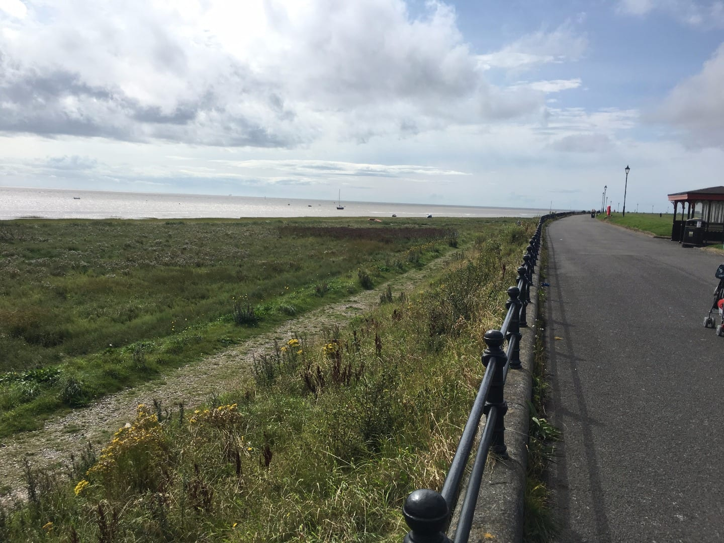 Lytham seafront, looking in the direction of the Irish Sea