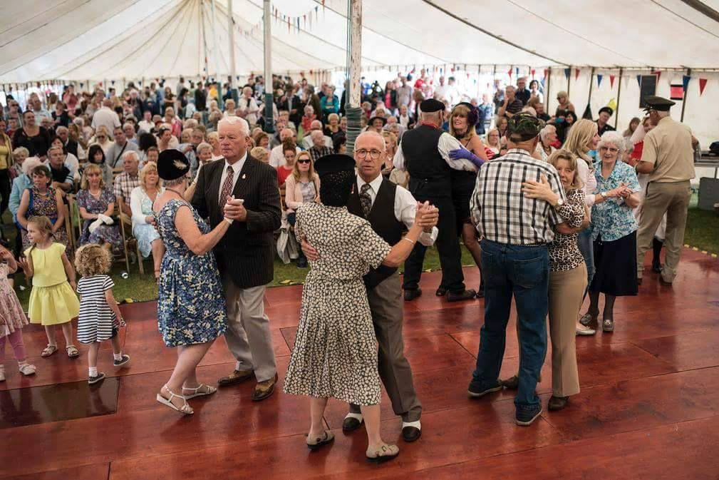 Dancing in the marquee at Lytham 1940's Festival - Wartime Weekend