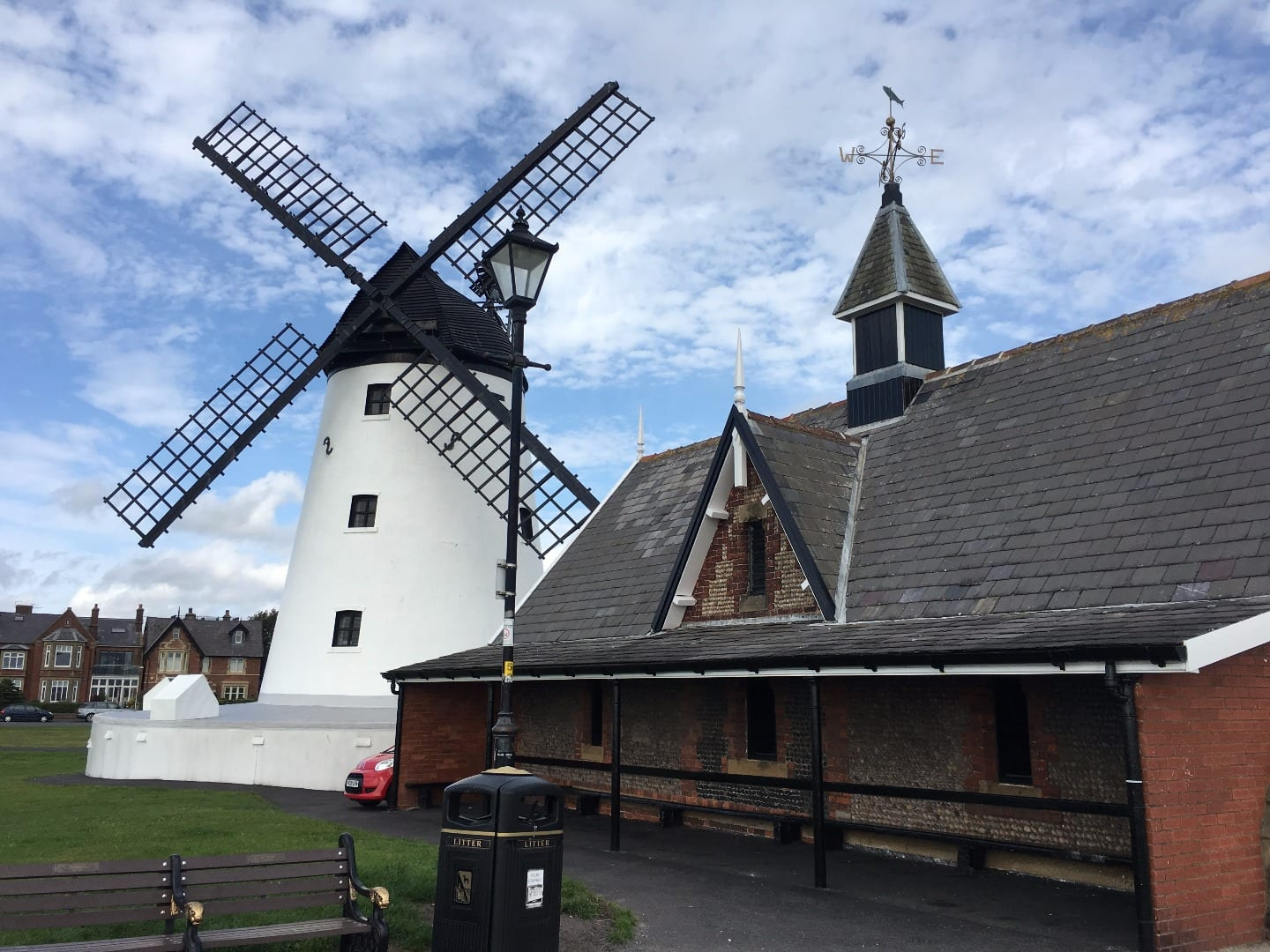 Lytham Windmill and lifeboat museum on Lytham seafront