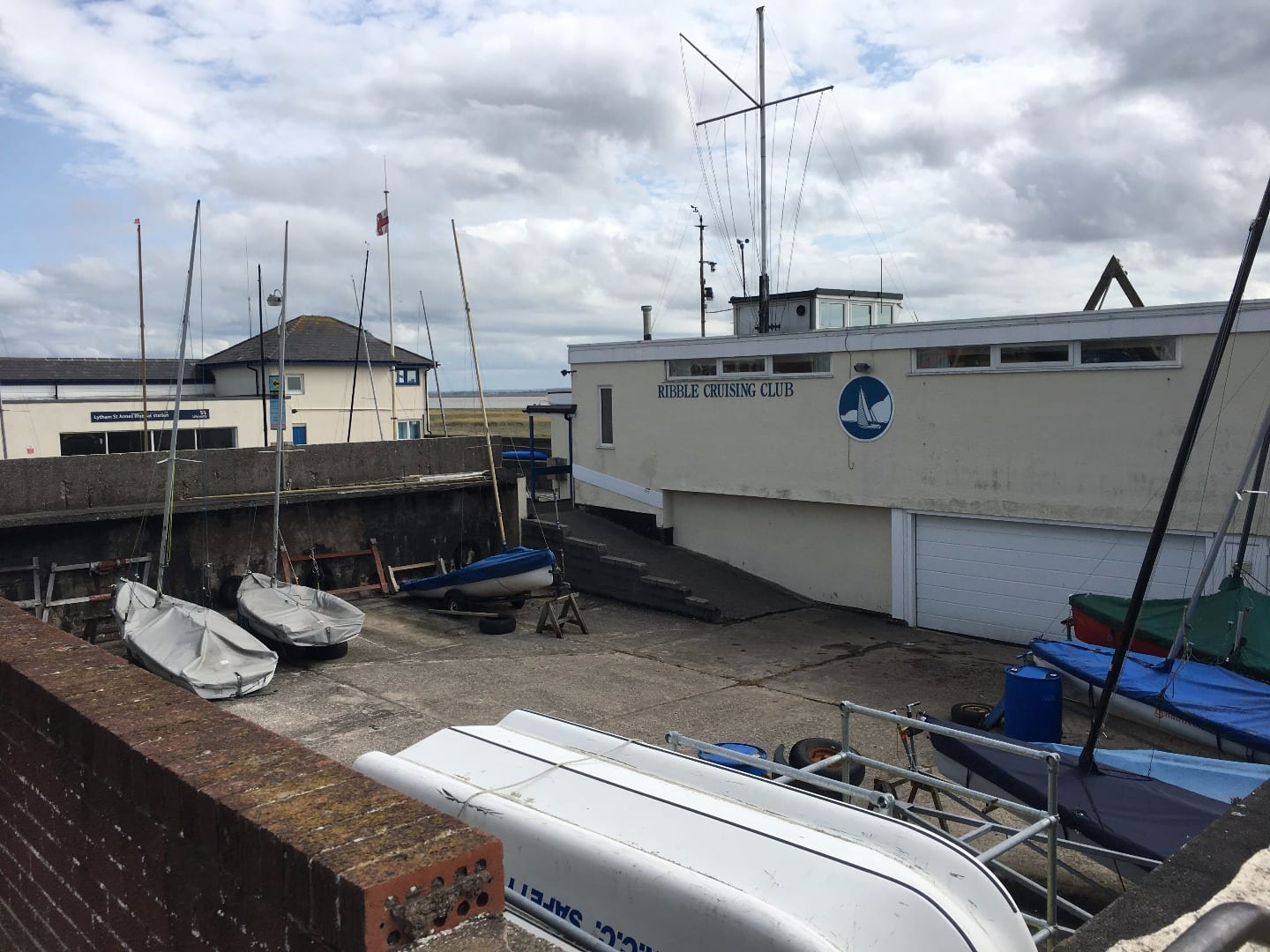Ribble Cruising Club and RNLI, built on the former mussel tank