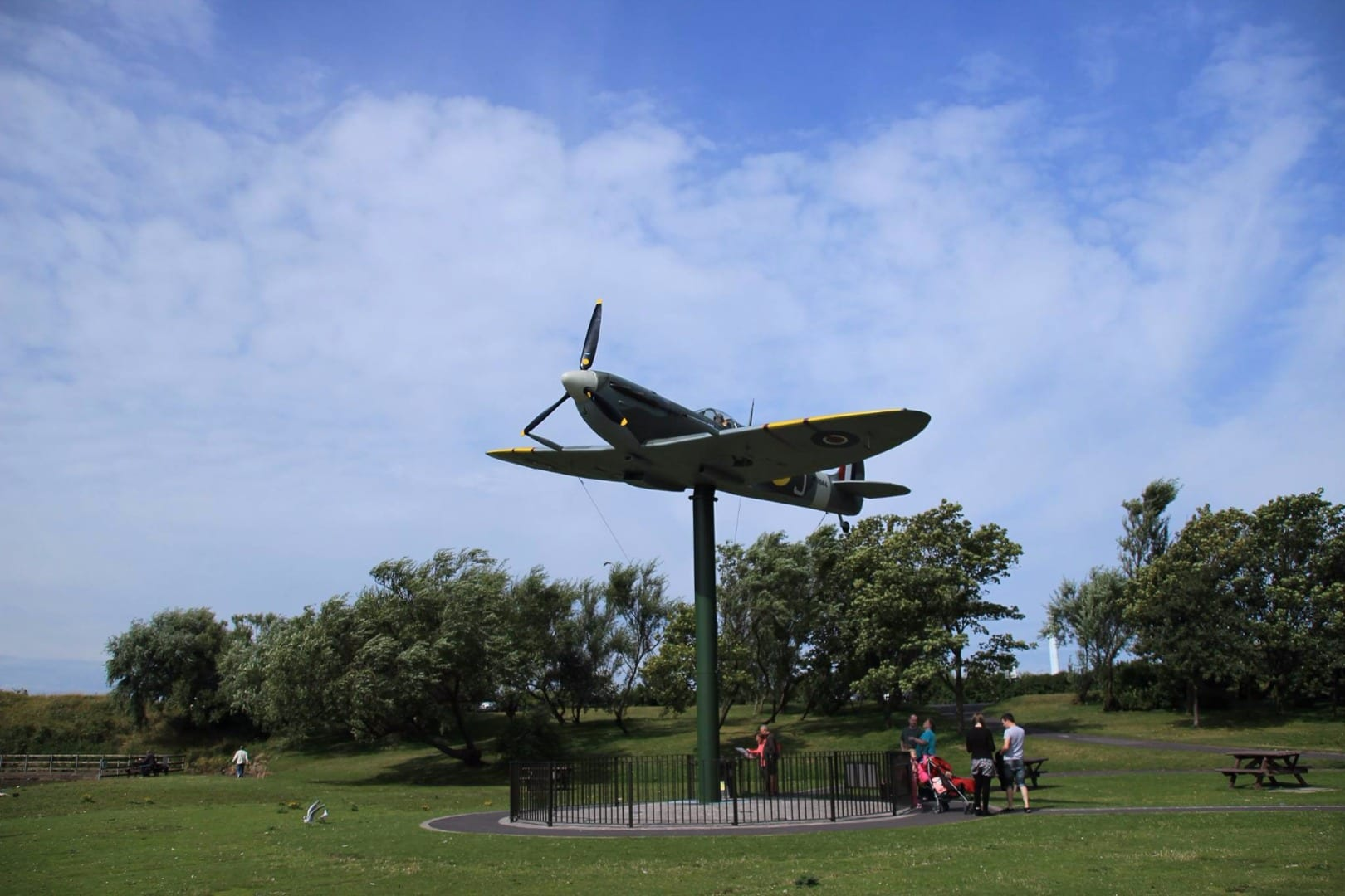 Spitfire memorial at Fairhaven Lake - photo from Keith Swallow