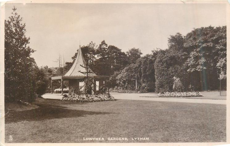 Lowther Gardens Lytham in 1909