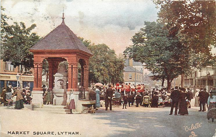 Lytham Market Square in 1907
