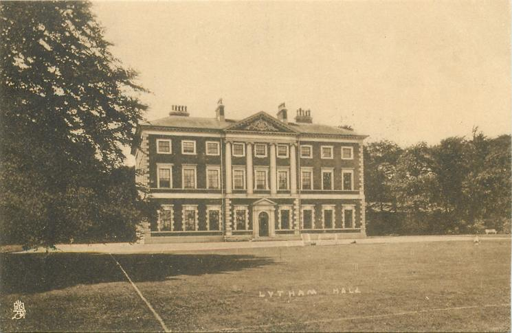 Tuck postcard of Lytham Hall from 1909