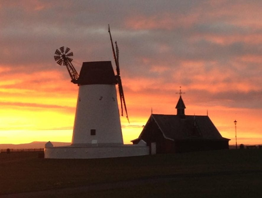 Sunset over Lytham Windmill by Andy Davies