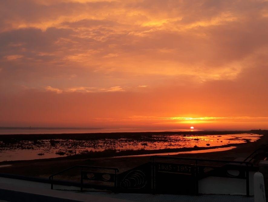 Sunset over the River Ribble by Karen Tickner