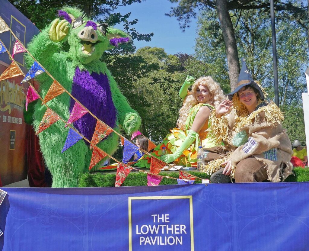 Friends of Lowther Pavilion Float at Lytham Club Day 2019. Photo by Sue Massey