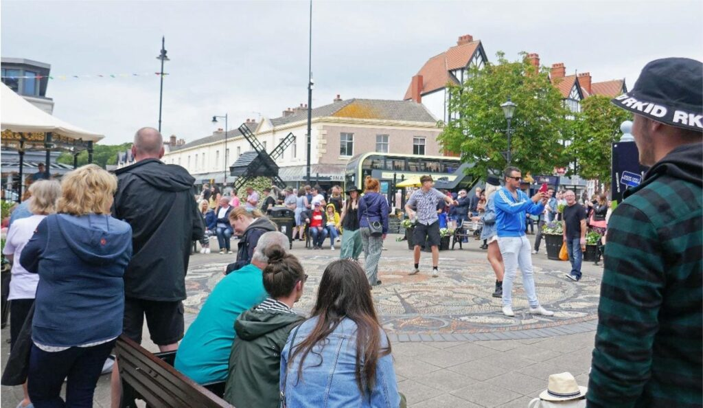 Dancing along to Parka Monkeys in Lytham Square. Photo: Sue Massey