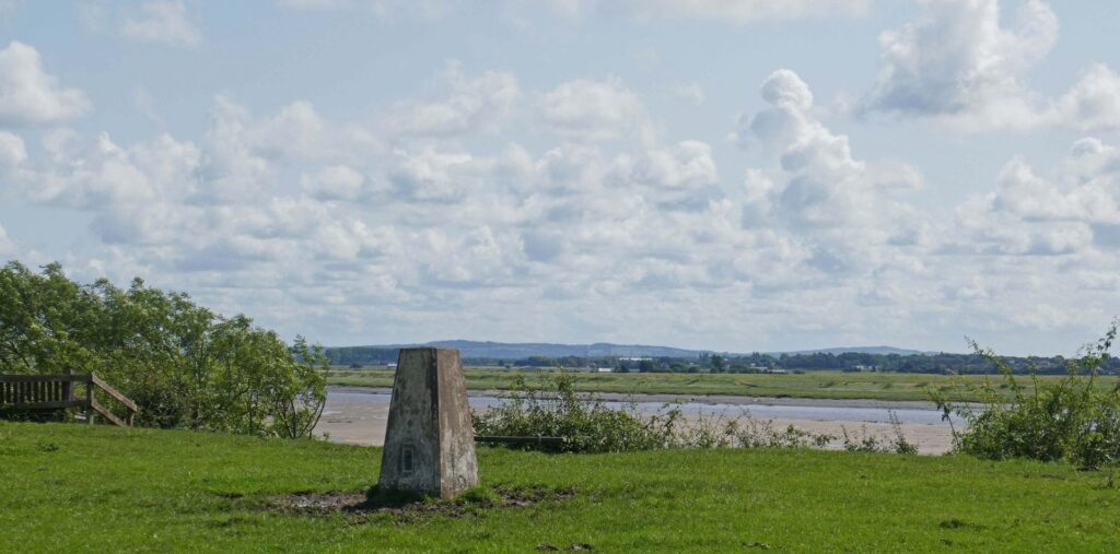 Trig point in the fields on your Freckleton walk. Photo: Sue Massey