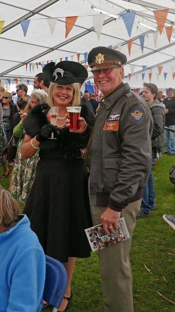 Cheers! Enjoying the beer tent