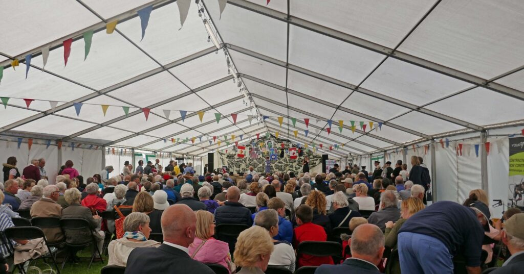 Entertainment in the marquee