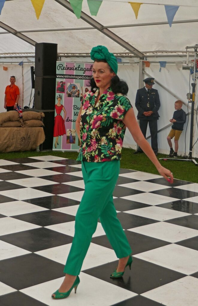 Fashion show in the marquee