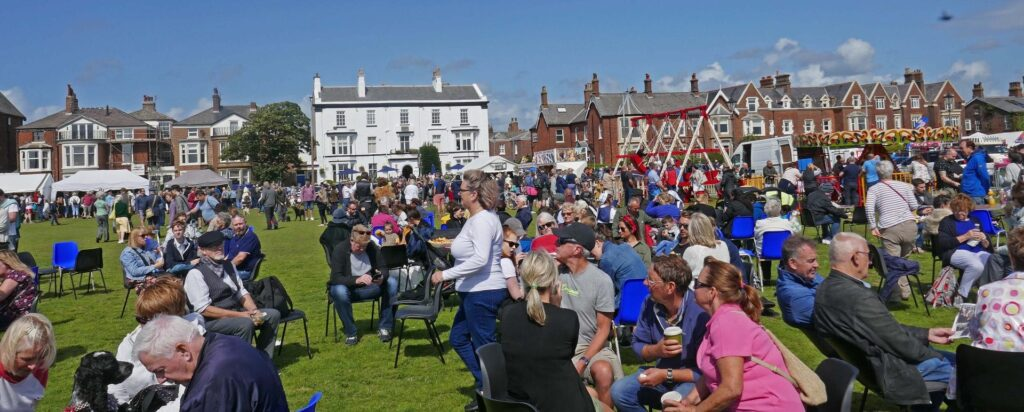 Crowds at Lytham 1940's weekend by Sue Massey