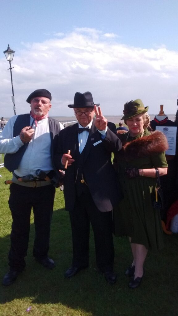 Winston Churchill gives the V sign at Lytham 1940s Weekend. Photo: Stevie Gouldson